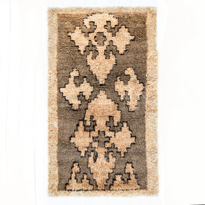 "Anatolian ""Tulu"" Neutral Shag Rugbest decor - HUNTEDFOX"