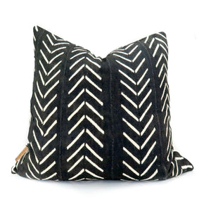 African Mudcloth Chevron Print Pillow