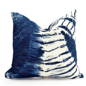 Shibori Denim Pillow | kids roombest decor - HUNTEDFOX