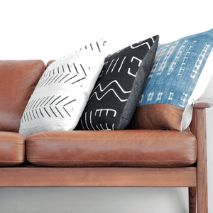 Modern Boho | Vintage Indigo & Leather Pillowbest decor - HUNTEDFOX