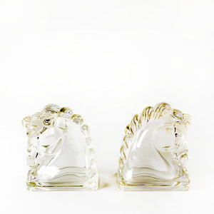 MCM Glass Stallion Bookends - H U N T E D F O X