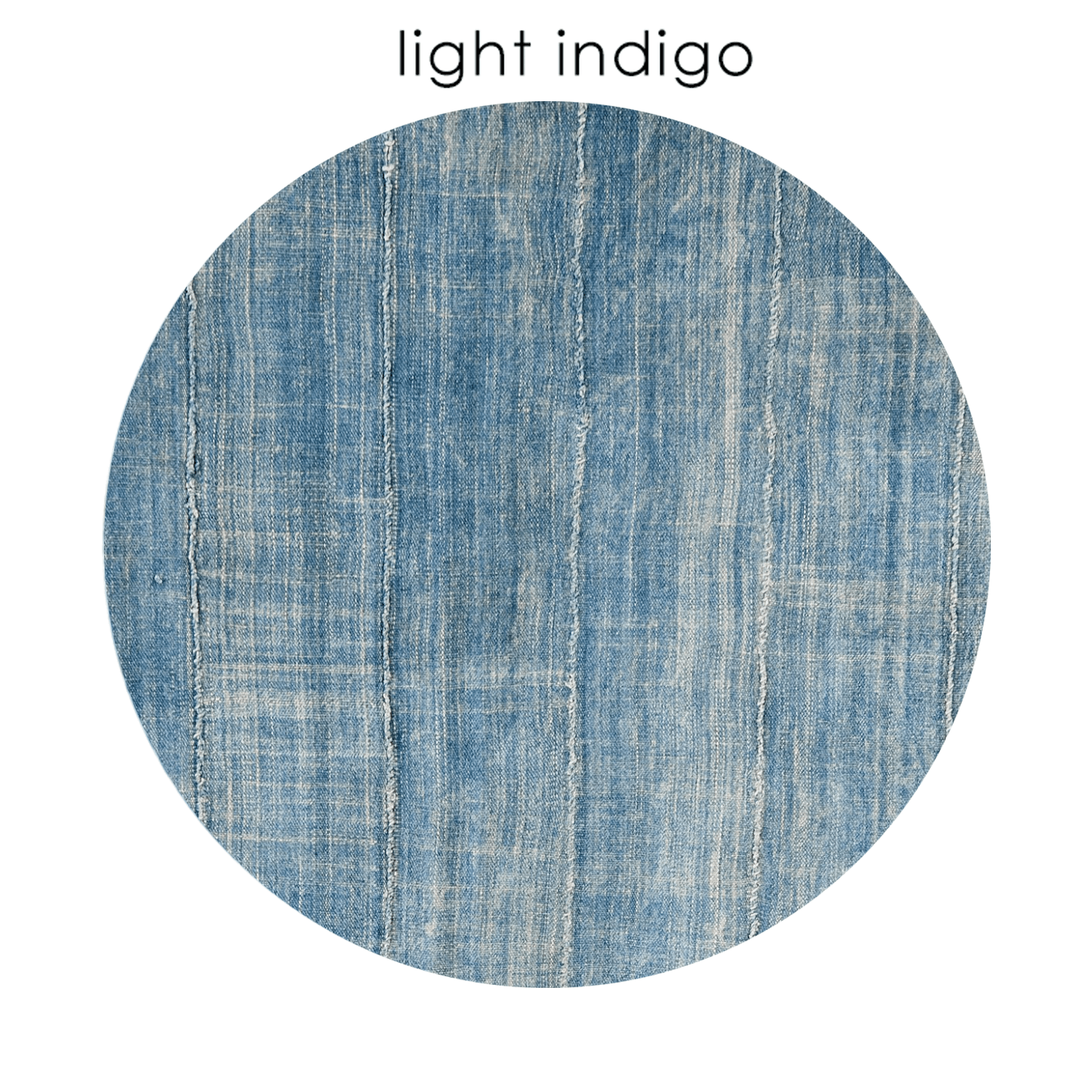 Super Lightweight Round Ottoman Vintage Indigo Caraccident5 Cool Chair Designs And Ideas Caraccident5Info
