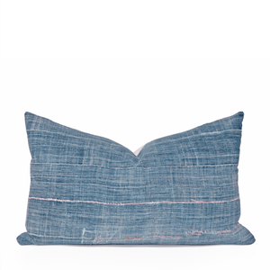 Modern Boho | Colorful Vintage African Indigo Lumbar Pillowbest decor - HUNTEDFOX