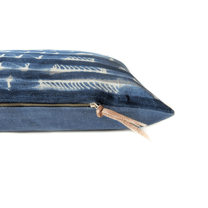 Modern Boho | Vintage Indigo Lumbar Pillowbest decor - HUNTEDFOX