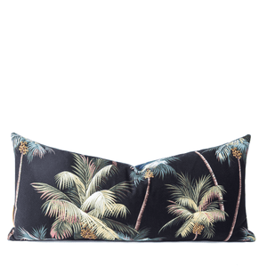 Modern Boho | Neon Palm Tree Queen Lumbar Pillow - H U N T E D F O X