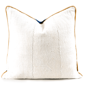 "Perfect Pillow | "" Kura"" Perfect Neutral Mudcloth & Leatherbest decor - HUNTEDFOX"