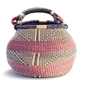 Purple Bolga Market Basketbest decor - HUNTEDFOX