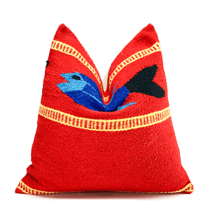 Red Fish Yucatan Accent Pillowbest decor - HUNTEDFOX