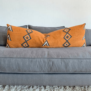 Long Lumbar King Bed Pillow | Diamond Mudclothbest decor - HUNTEDFOX