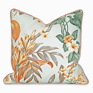 Modern Boho | Tropical Floral Accent Pillow - H U N T E D F O X