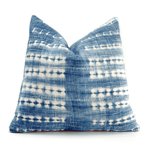 Modern Boho | Vintage African Indigo Accent Pillowbest decor - HUNTEDFOX