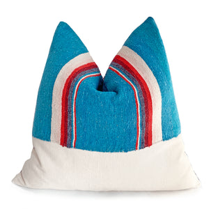 Vintage Serape Pillow  Turquoisebest decor - HUNTEDFOX