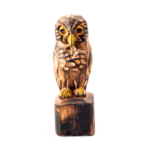 Wooden Carved Owlbest decor - HUNTEDFOX