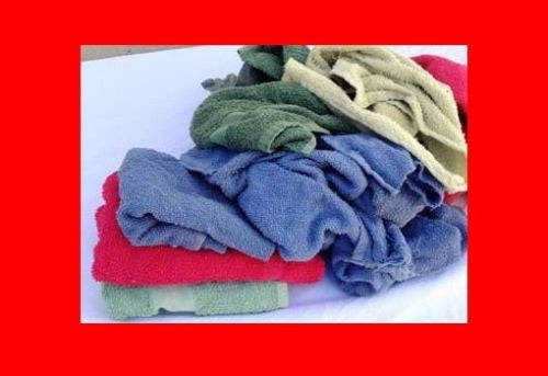 114 ($1.28 lb) TERRY TOWEL WIPING COTTON CLEANING RAGS OKLAHOMA