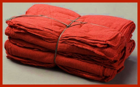 305 ($1.75 lb) NEW RED SHOP TOWELS MECHANIC WIPING RAGS OKLAHOMA