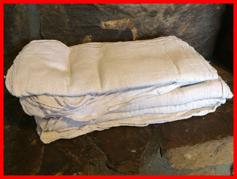 306 ($1.75 lb) NEW WHITE SHOP TOWELS MECHANIC WIPING RAGS OKLAHOMA