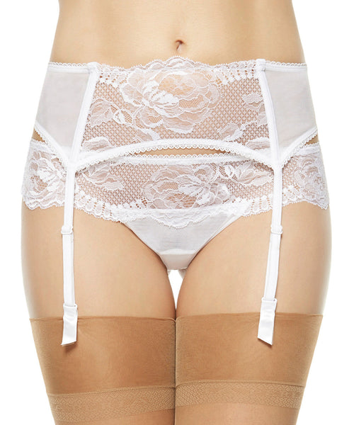 Begonia Garter Belt - White