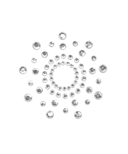 Mimi Rhinestone Circles Pasties - Crystal Clear