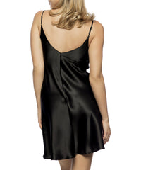 Corazon Silk Slip - Black