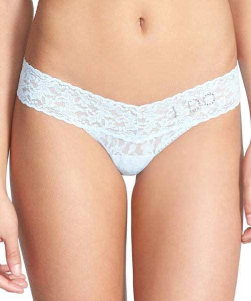 "Signature Lace Low Rise Bridal Thong - ""I DO"""