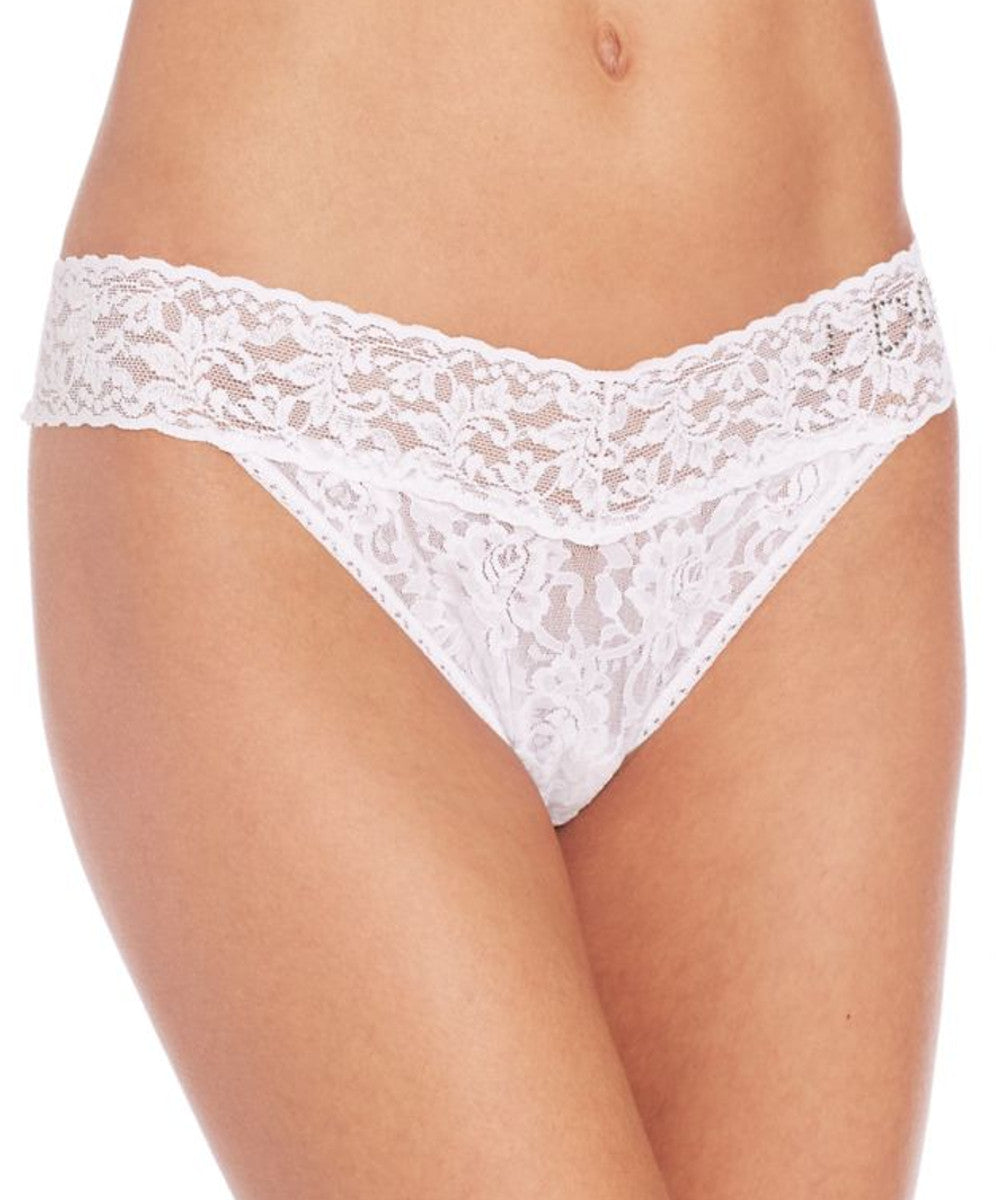 "Signature Lace Original Rise Bridal Thong - ""I DO"""