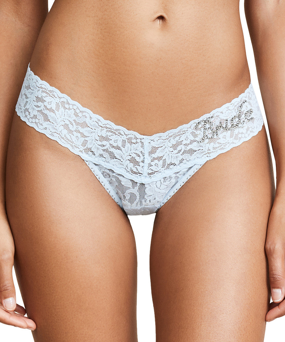 """Bride"" Signature Lace Low Rise Bridal Thong - ""Bride"""