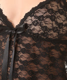 Lace Babydoll with G-String - Black