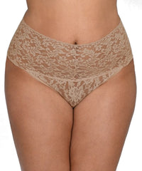 Signature Lace Retro Thong Plus Size
