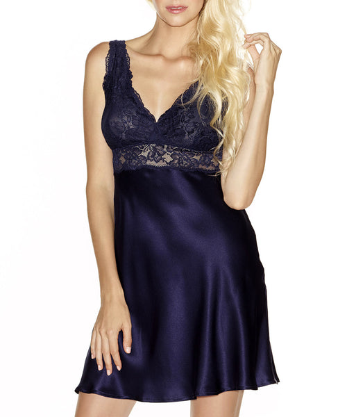 Morgan Lace Silk Chemise - Evening