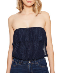 Love On Top Tube Bodysuit - Navy