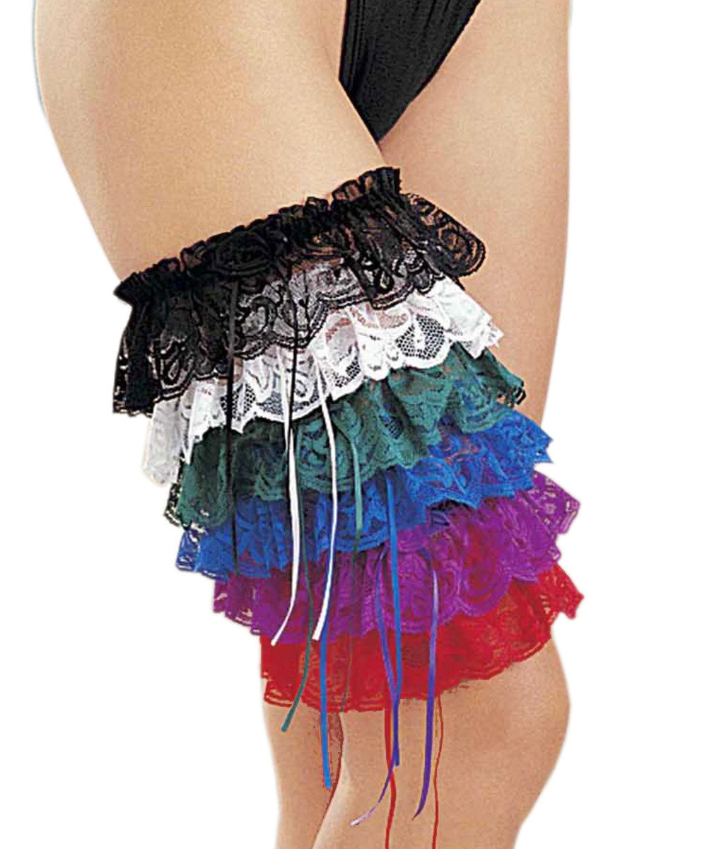 Ribbon Leg Garters - Assorted Colours