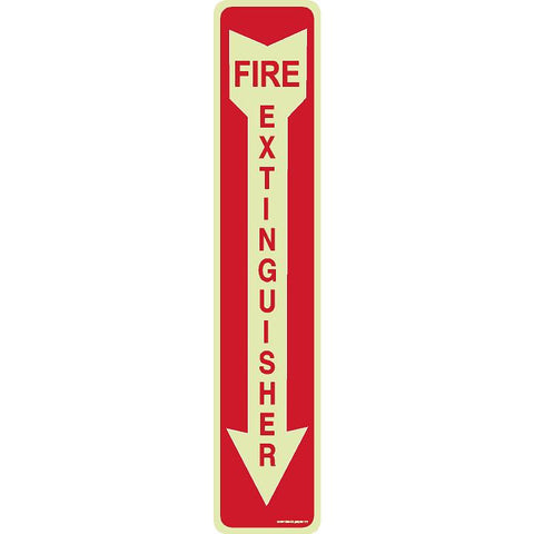 FIRE EXTINGUISHER SIGN (DOWN ARROW)