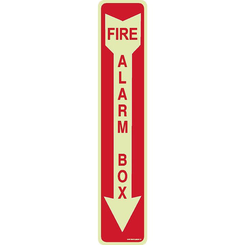 FIRE ALARM BOX SIGN (DOWN ARROW)