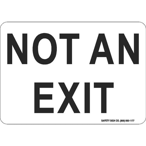 NOT AN EXIT (BLACK/WHITE)