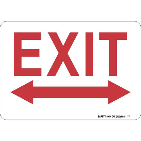 EXIT (DOUBLE ARROW) (RED/WHITE)