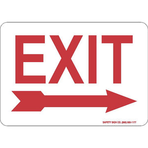 EXIT (RIGHT ARROW) (RED/WHITE)