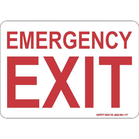 EMERGENCY EXIT (RED/WHITE)