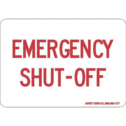 EMERGENCY SHUT OFF (RED/WHITE)