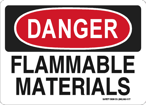 DANGER FLAMMABLE MATERIALS