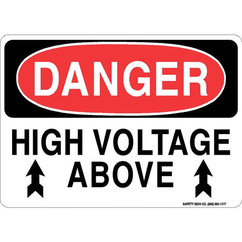 DANGER HIGH VOLTAGE ABOVE