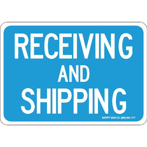 RECEIVING AND SHIPPING (WHITE/BLUE)