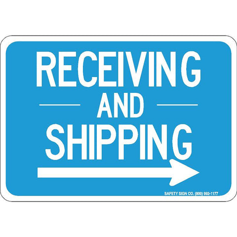 RECEIVING AND SHIPPING (RIGHT ARROW) (WHITE/BLUE)