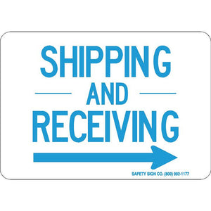 SHIPPING-AND-RECEIVING (RIGHT ARROW)(BLUE/WHITE)