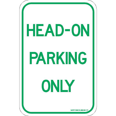 HEAD-IN PARKING ONLY SIGN