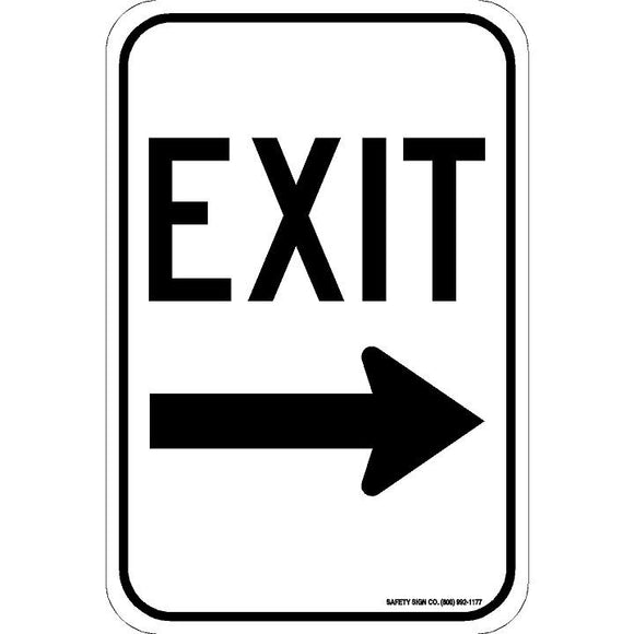 EXIT (RIGHT ARROW) SIGN