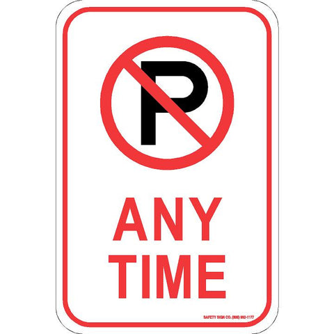 (NO PARKING GRAPHIC) ANY TIME SIGN