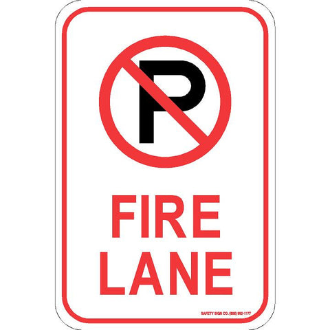 (NO PARKING GRAPHIC) FIRE LANE SIGN
