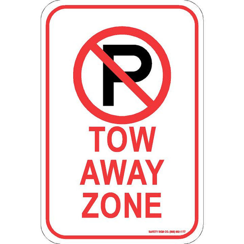 (NO PARKING GRAPHIC) TOW AWAY ZONE SIGN