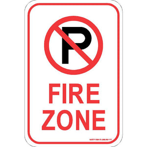 (NO PARKING GRAPHIC) FIRE ZONE SIGN