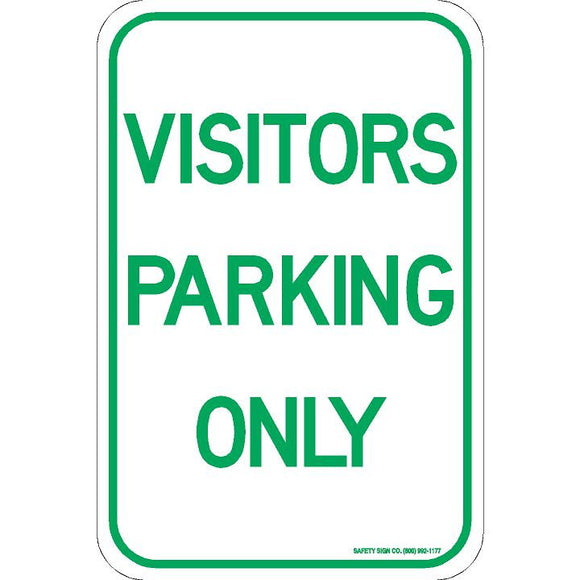 VISITORS PARKING ONLY SIGN